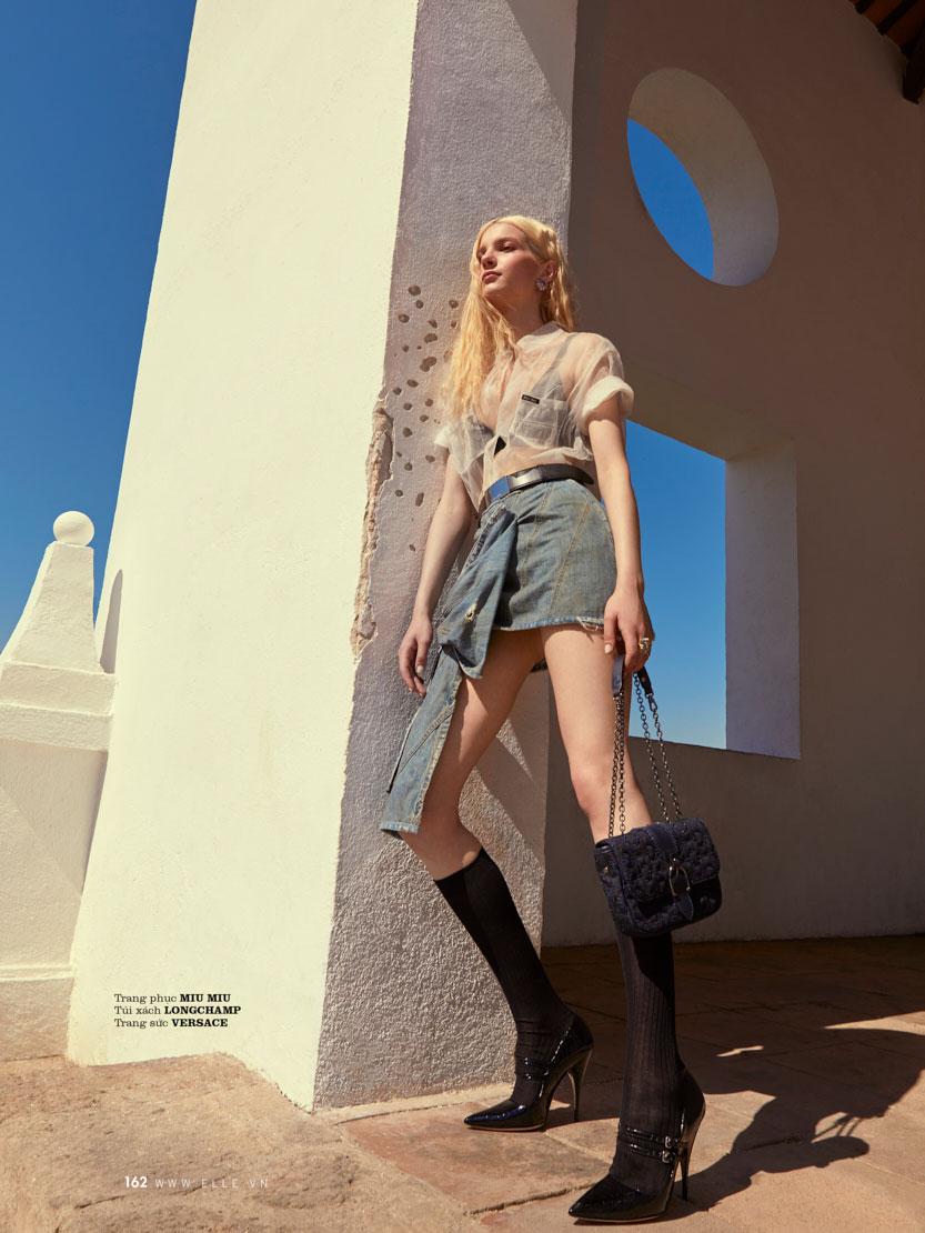 Elle Magazine, ELLE Vietnam, Elle, Denim Editorial, nastya zhuleva, olga rubio dalmau, Chanel, Chanel ss 19