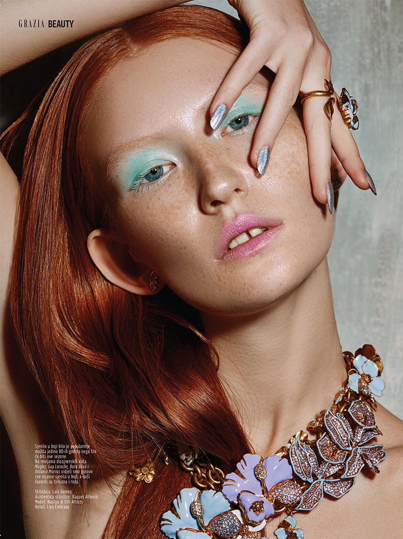 grazia, beauty editorial,