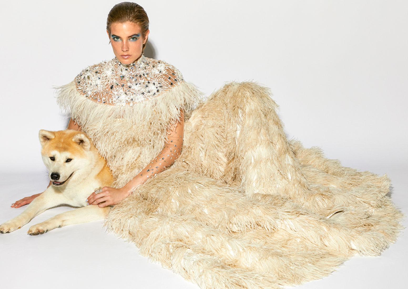 miss magazin, fashion editorial with dogs, austrian couture, olga rubio dalmau